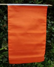 HAND WAVING FLAG - Plain Orange